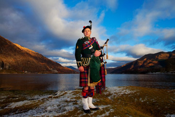 Ayrshire piper Bryce McCulloch